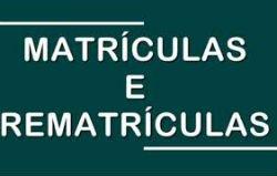MATRÍCULA E REMATRÍCULA SC